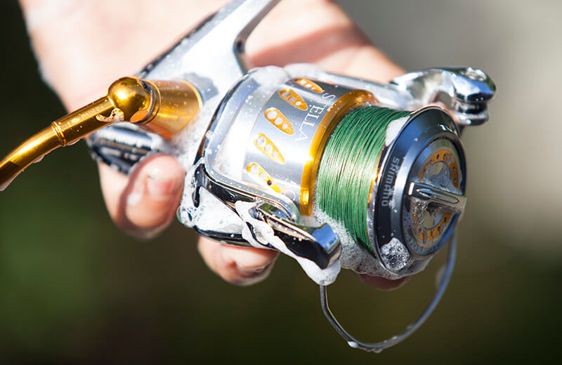cleaning fishing reel