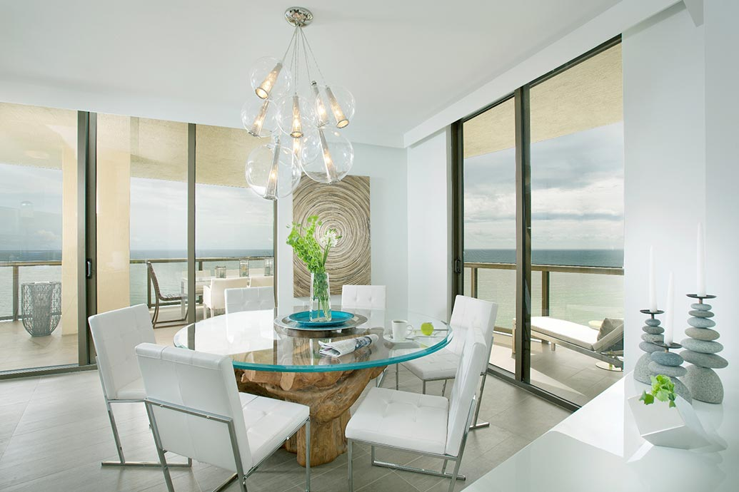 glass table in beach house | Self Storage Cleveland