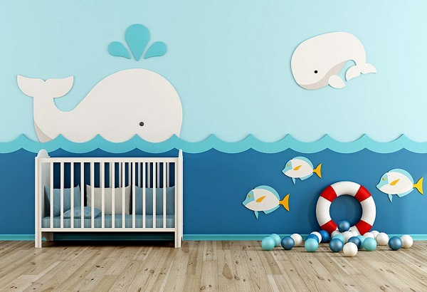 A themed nursery room