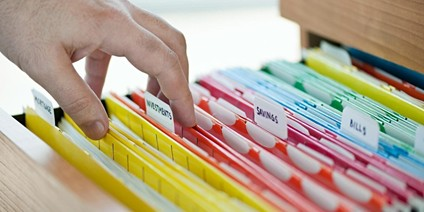 Files organised by colors